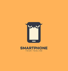 smart phone logo vector image