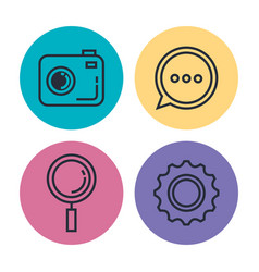 smartphone applications menu icons vector image