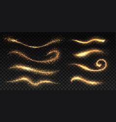 sparkle stardust golden glittering dust brush vector image