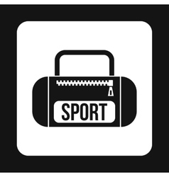 Sports bag icon simple style vector