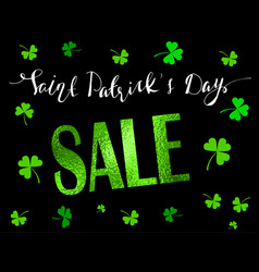 st patrick s day sale banner vector image