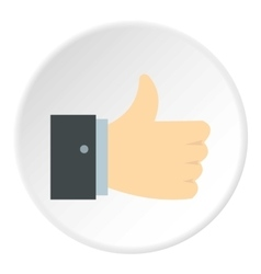 Thumb up icon flat style vector