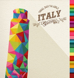 Travel Italy landmark polygonal monument vector image