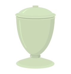 Urn icon cartoon style vector