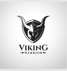 viking warrior logo and symbol vector image