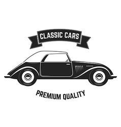 Vintage cars sale Retro cars repair vector image