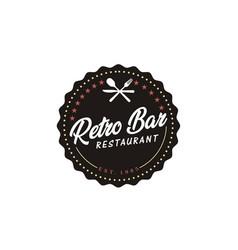vintage retro bar restaurant label emblem sticker vector image