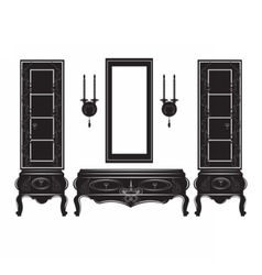Vintage Sideboard cabinet Showcase silhouette vector