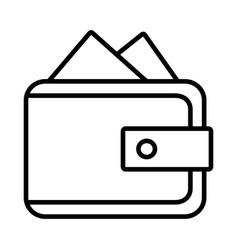 wallet line icon purse icon vector image