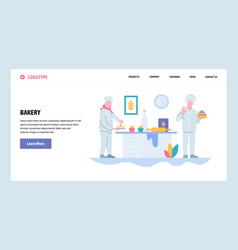 Web site gradient design template bakery vector