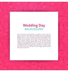 Wedding Day Paper Template vector