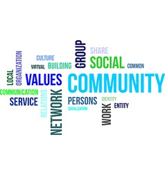 word cloud community vector image