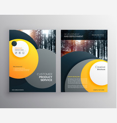Yellow business flyer brochure design a4 template vector