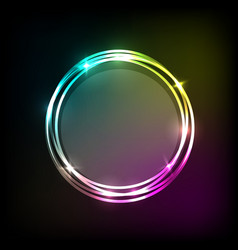 abstract background with colorful neon circles vector image