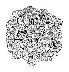 black and white seamless pattern in a zentangle st vector image vector image