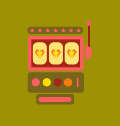 flat icon on background slot machine vector image