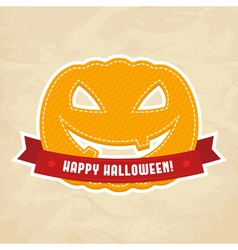Happy Halloween label vector image vector image