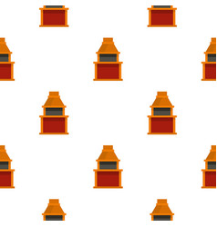 Barbecue gas grill pattern seamless vector