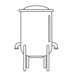 barrel icon outline style vector image