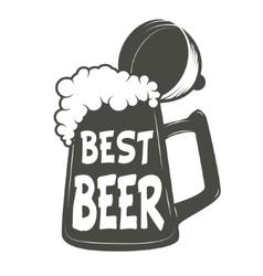 best beer Vintage beer mug vector image