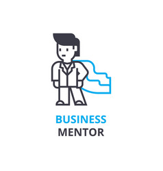 business mentor concept outline icon linear vector image