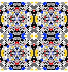 Design seamless colorful mosaic pattern vector image vector image