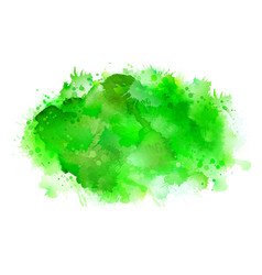 green shadow watercolor stains bright color vector image