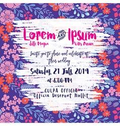 Modern Floral Wedding invitation card vector image vector image