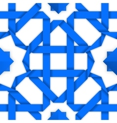 seamless pattern with blue crossed stripes vector image