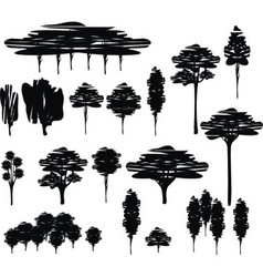trees cartoon set vector image vector image