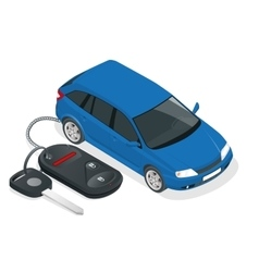 car rental or sale concept Car and Car vector image