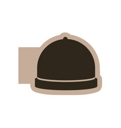 contour emblem catering icon vector image