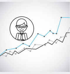 growth business concept icon vector image