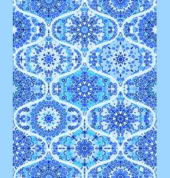 mandala tile pattern ogee blue background vector image vector image