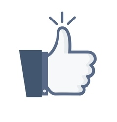 modern thumb up blue icon on white vector image