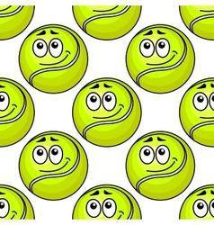 Tennis ball seamless pattern vector image vector image