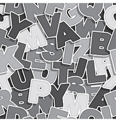 alphabet pattern vector image