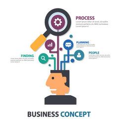 Businessman with creative idea tree vector image