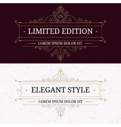Set of vintage frames for luxury logos vector image vector image