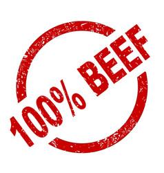 100 percent beef vector