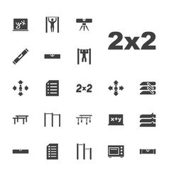 22 horizontal icons vector