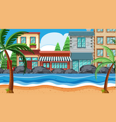 a beach town scene vector image