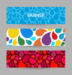 abstract bright banner with drops of water bright vector image