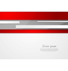 Abstract tech red and grey design vector image