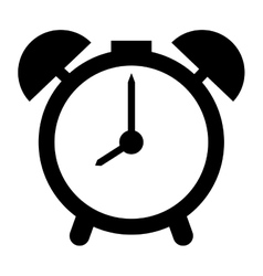 Analog alarm clock vector
