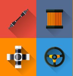 automotive spare parts vector image