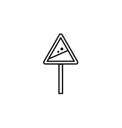 Avalanche sign warning outline icon element of vector