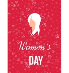 Beautiful girl for Happy Women s Day background vector image