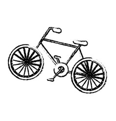 bicycle vehicle icon vector image