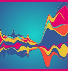 Big data visualization streamgraph futuristic vector